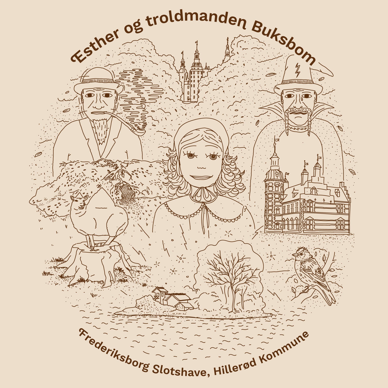 Frederiksborg Slotshave - Esther og troldmanden Buksbom